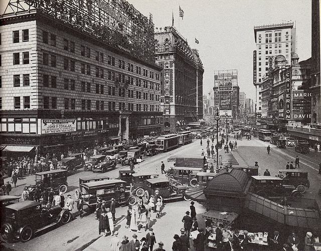 times square rms olympic 1922
