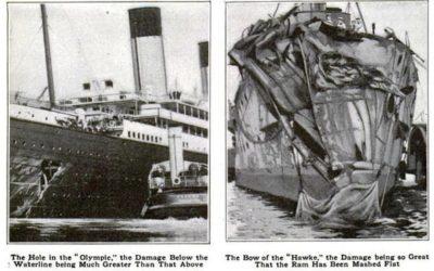 La collision entre le RMS Olympic et le HMS Hawke