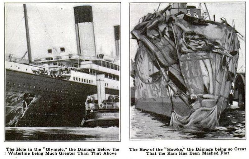 collision rms olympic hms hawke