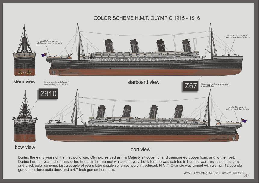 RMS Olympic Première Guerre mondiale