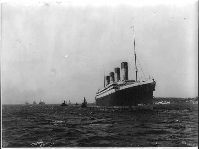 Voyage inaugural RMS Olympic en quarantaine