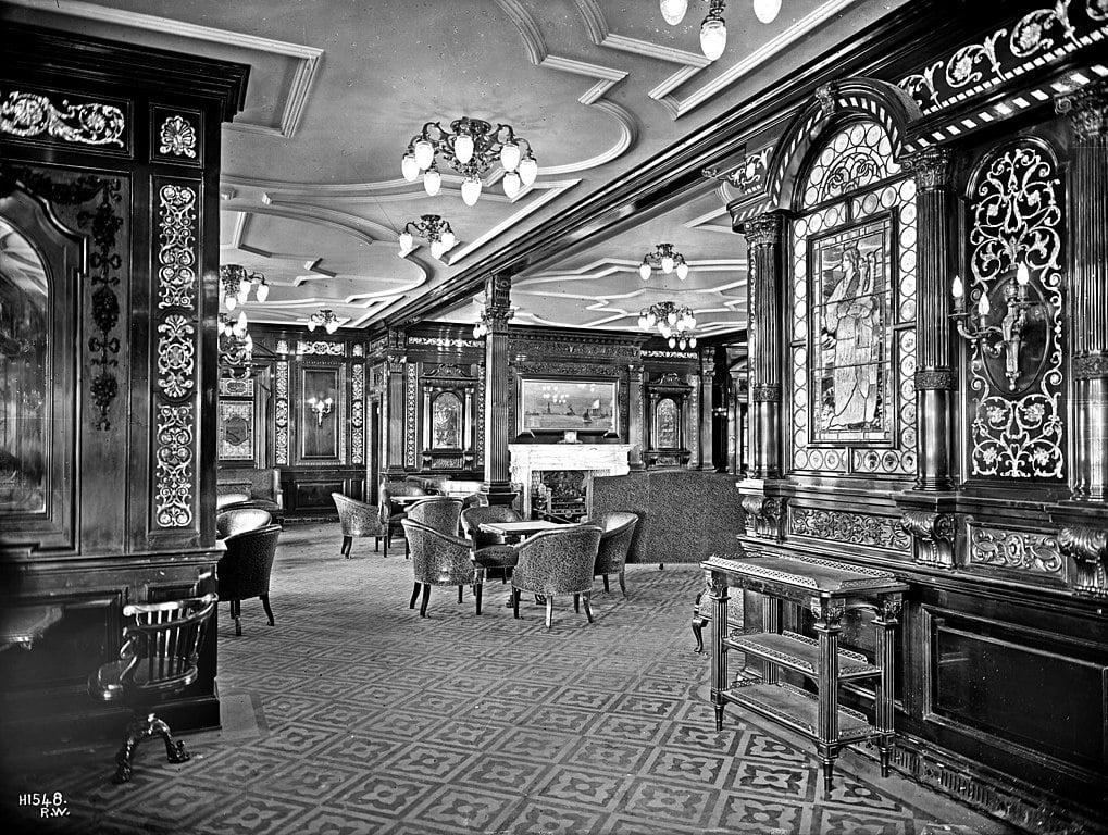 RMS Olympic intérieur fumoir première classe