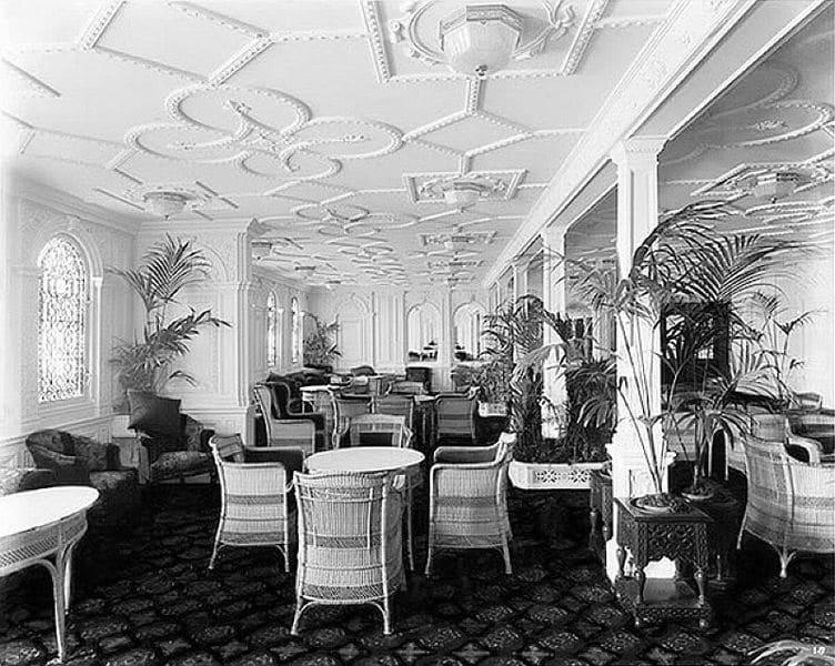 RMS Olympic interieur pont D salle de récéption