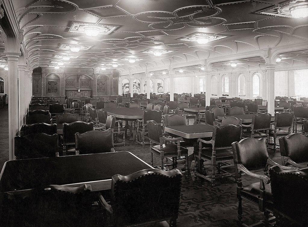RMS Olympic salle à manger de première classe