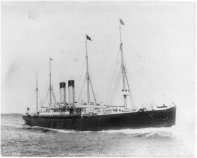 Le SS Germanic après sa refonte de 1895