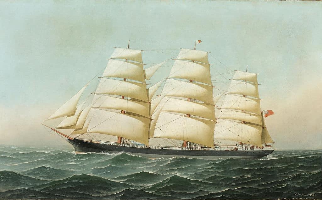 le laomene sur lequel Bertram Fox Hayes a débuté sa carrière de marin