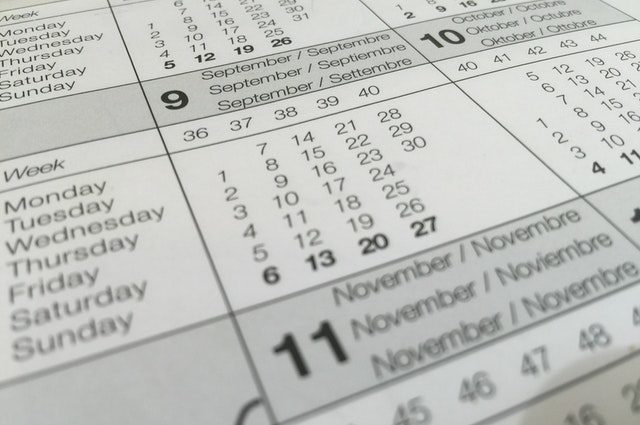 calendrier de l'olympic