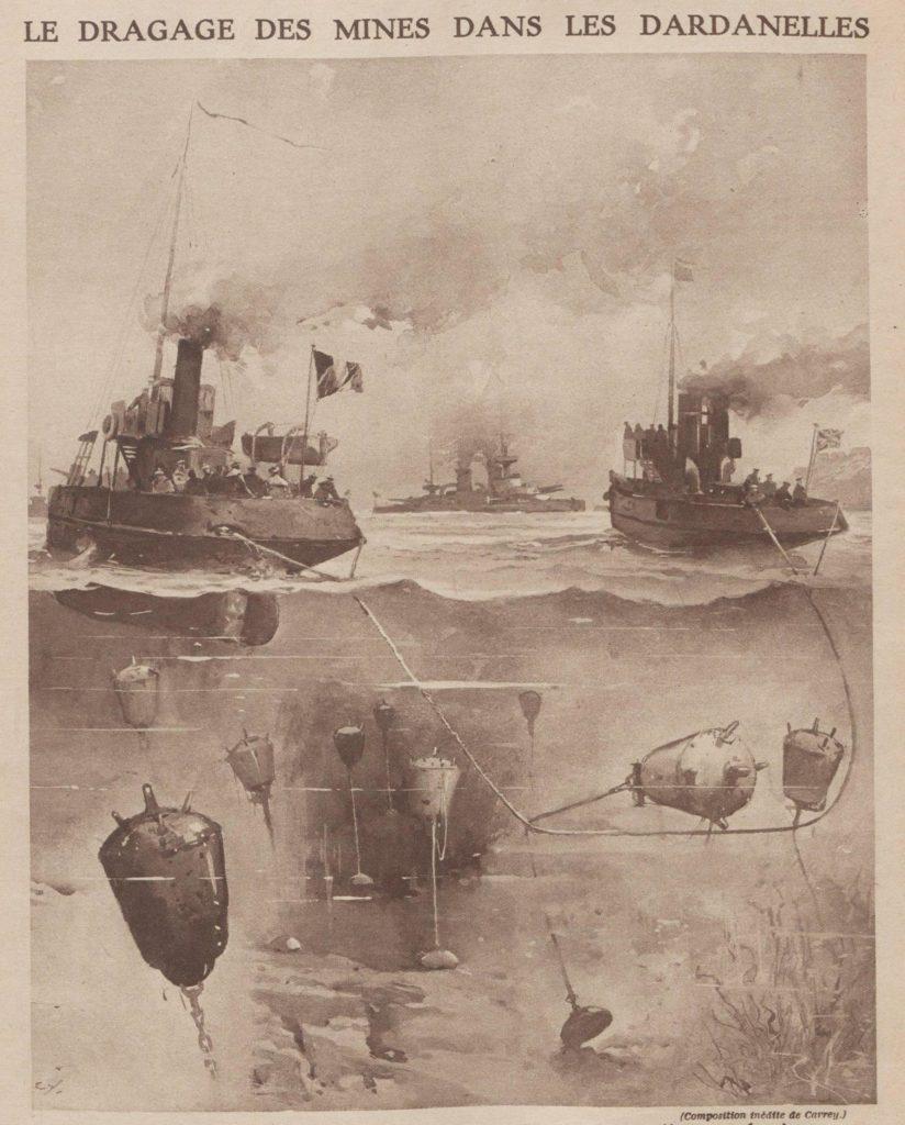 les mines en méditerranée pullulent