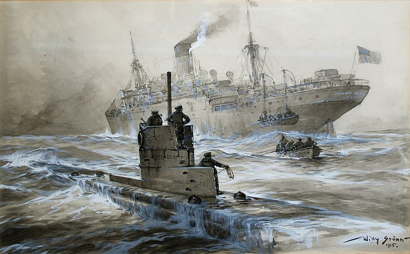 un u-boat coule un navire