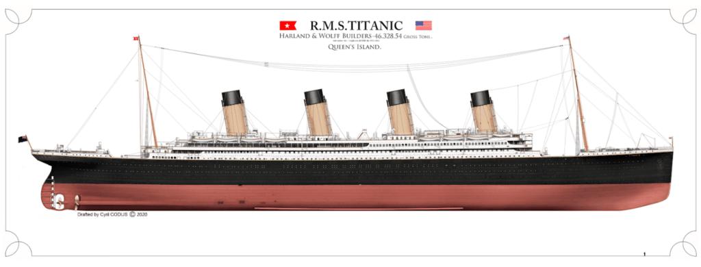 plan du titanic de Cyril Codus