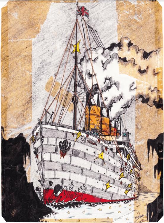 le premier dessin du Titanic par Cyril Codus