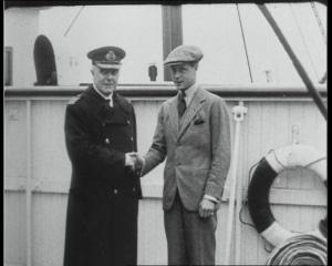 capitaine Howarth et le duc de Windsor